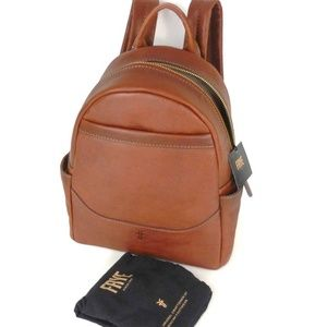 Frye Front Slit Cognac Brown Backpack Leather Bag